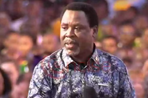 GOD HAS REVEALED SO MUCH TO ME ABOUT THIS COUNTRY BUT NIGERIANS ALWAYS MISUNDERSTAND MY VISION -TB JOSHUA
