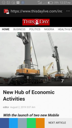 Onne Port, River State New Hub Of Economic Activities