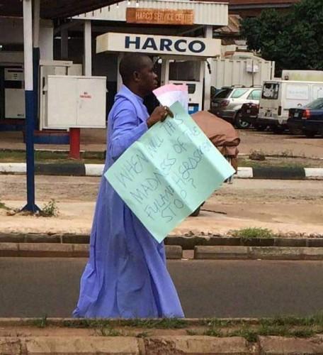 Fulani Herdsmen: Father Mbaka Protests Against Murder Of Paul Offu