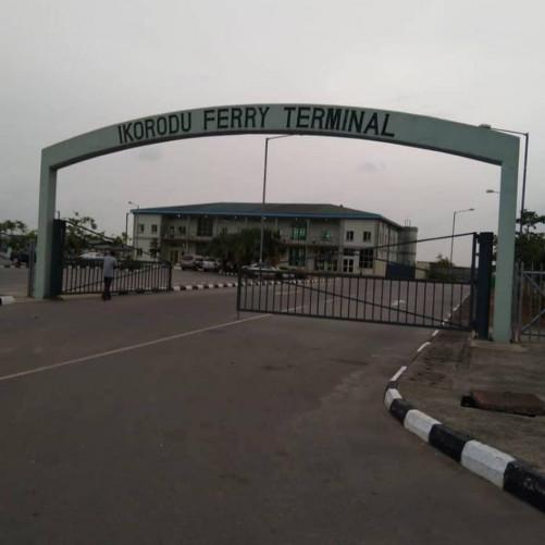 Ikorodu-Mile 12 Road: Crowd At The Ikorodu Ferry Terminal Today