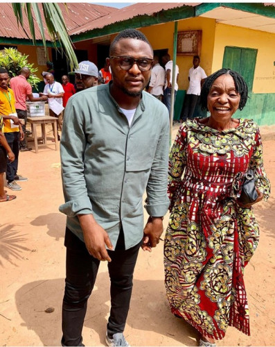 Ubi Franklin Celebrates His Mother On Her Birthday (Photo)