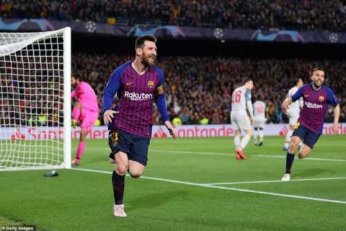 Lionel Messi Free-kick Goal Vs Liverpool Voted UEFA Goal Of The Season (Photos)