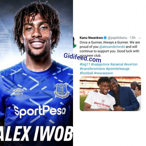 Kanu's Message To Alex Iwobi As He Signs For Everton