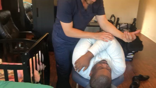 Don Jazzy Visits Doctor Justin Dean (Photos)