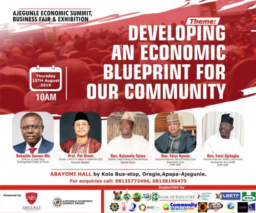 Gov. Sanwo-olu, Prof Pat Utomi, Others To Headline Ajegunle Economic Summit