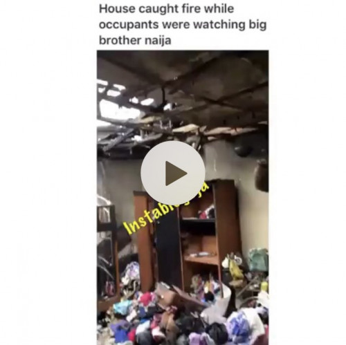 Room On Fire As Occupants Watching BBNaija In The Sitting Room