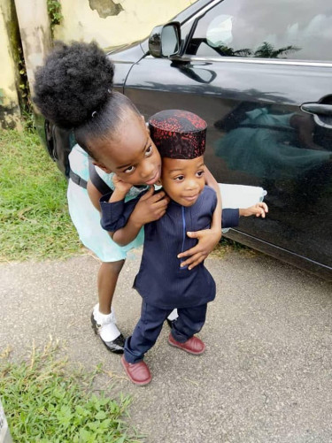 Adiele Ekeke Buries His Two Children Same Day, Wife Still In Mortuary (Photos)