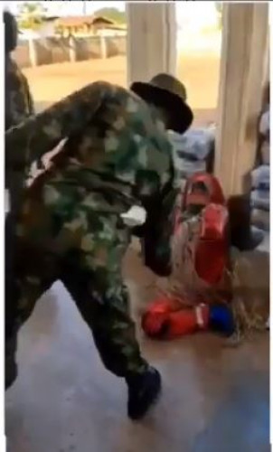 Masquerade Flogged By A Soldier Cries