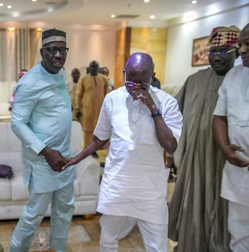 Photos Of Oshiomhole And Obaseki At Their Peace Meeting