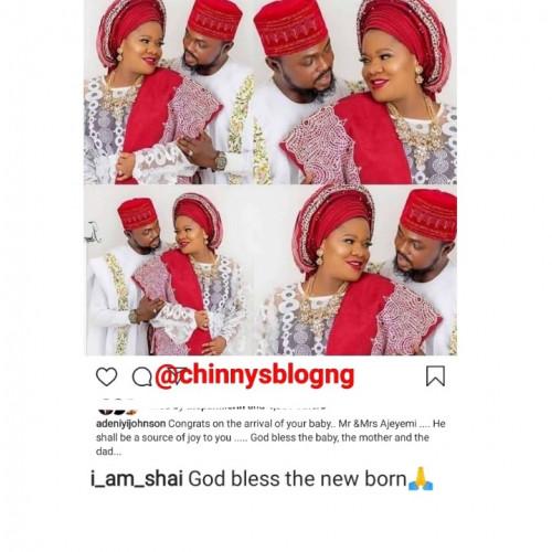 Niyi Johnson And Seyi Edun Congratulate Toyin Abraham On Her Newborn Baby