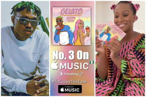 (photos)of 'Dj cuppy ft Zlanta' Gelato.