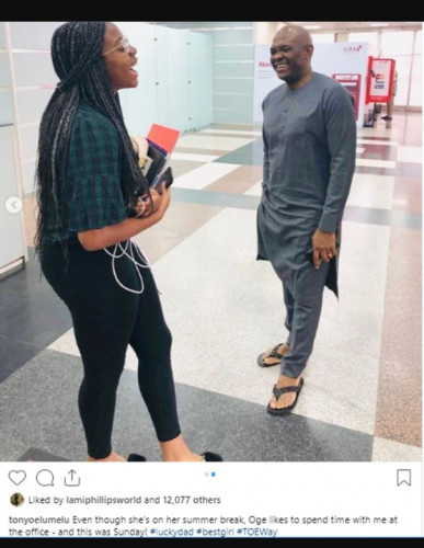 Tony Elumelu's Daughter, Oge, Steals The Heart Of Instagram Users.