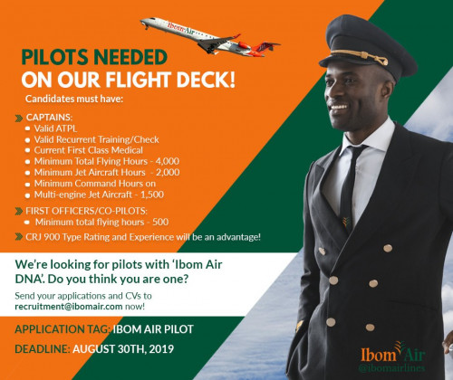 Ibom Air Is Hiring Pilots