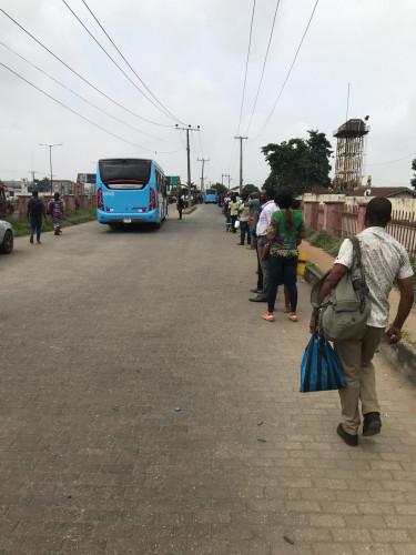 Despite 800 New BRT Buses, See How Lagos Bus Terminals Look On Monday Morning