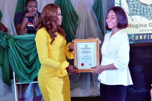 Regina Daniels, Others Speak At Human Trafficking Event (Photos)