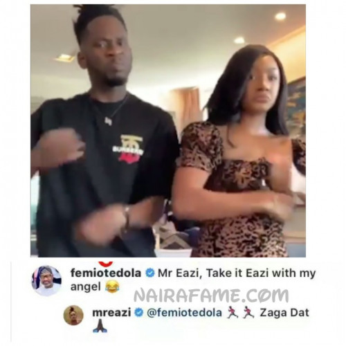 Femi Otedola Cautions Mr. Eazi To Handle His Daughter, Temi With Care