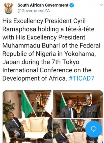 South Africans React To President Buhari's Meeting With President Ramaphosa.