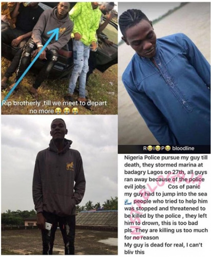 Scared Man Dies After Jumping Into The Sea During A Random Police Raid In Lagos