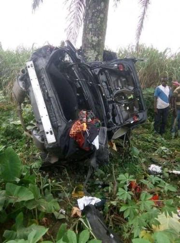 Man Survives A Ghastly Motor Accident As His Car Crashes Into A Bush (Photos)