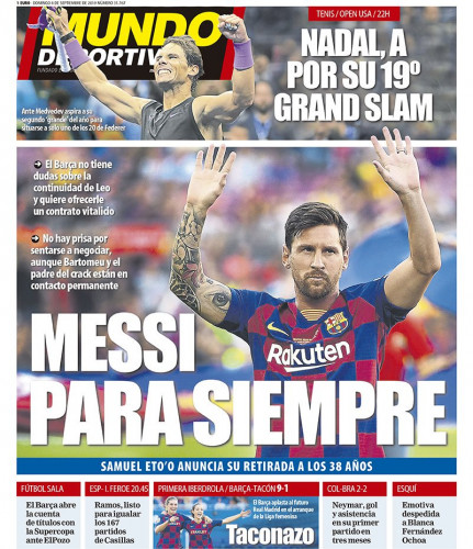 BARCA WANT TO OFFER MESSI A LIFETIME CONTRACT.