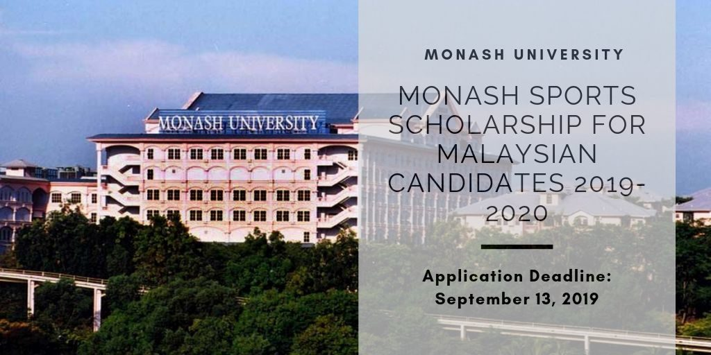 Monash Sports Scholarship for Malaysian Candidates