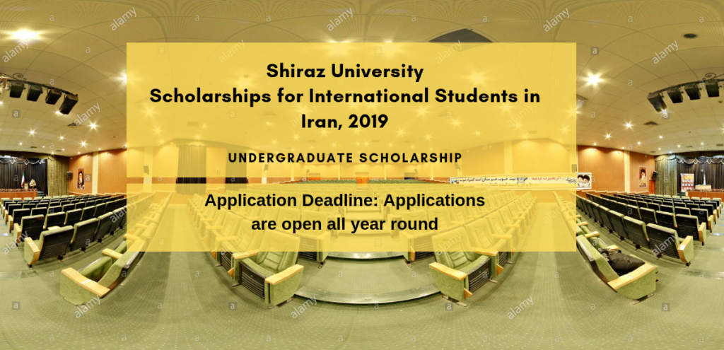 Shiraz programs for International Students in Iran, 2019