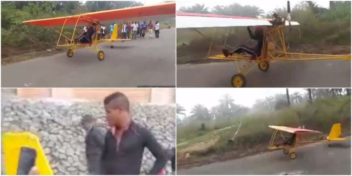 Nigerian teenage lad builds a two seater boat and one seater aircraft