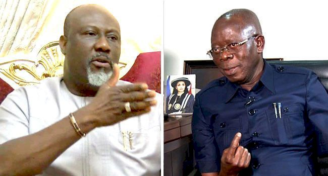 Oshobaba has been downgraded to Oshopikin - Dino Melaye mocks Oshiomhole over Edo governorship election in new song (video)