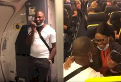 Nigerian man proposes to girlfriend onboard an international flight