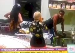 #BBNaija: Nengi left in shock as she walked in on Neo washing Vee's panties