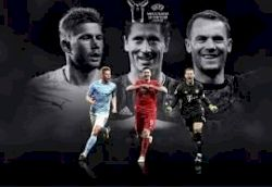 Messi and Ronaldo not on UEFA Player of the Year shortlist as Bayern duo Robert Lewandowski and Manuel Neuer compete with Man City's Kevin De Bruyne for the prize
