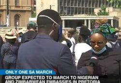 South Africans march in protest demanding Nigerians and Zimbabweans leave the country