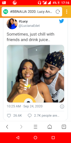 Bbnaija: Lucy and praise post eviction photo sparks dating speculations