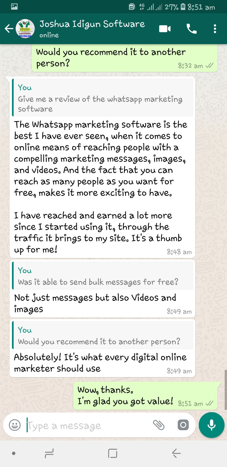 Whatsapp sender pro